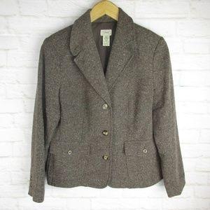 L.L.Bean women's size Medium Petite Brown Wool